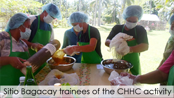 Sitio Bagacay trainees of the CHHC activity
